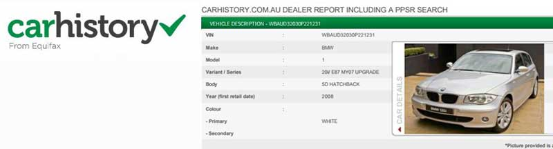 Car Dealer Car History Report