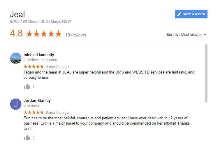 Google Reviews for your Workshop